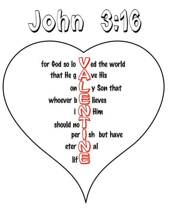 John 316 Heart Coloring Pages