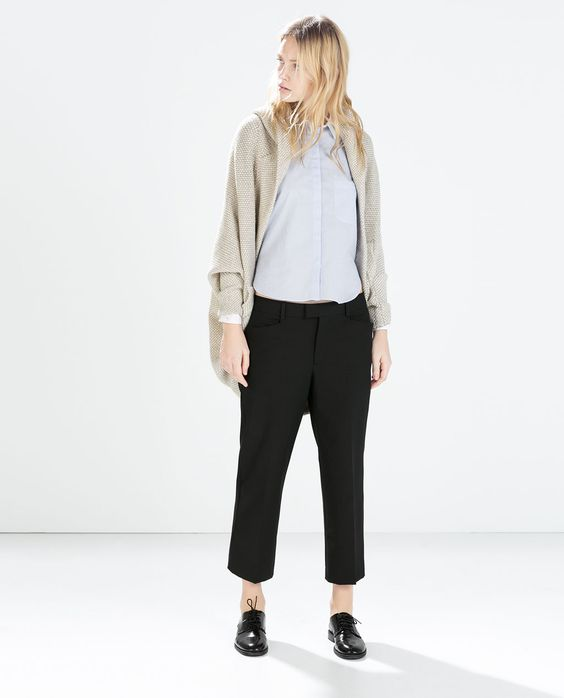 Image 1 of TWO-TONE WRAP JACKET WITH POCKETS AND HOOD from Zara