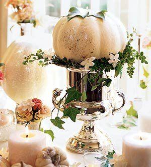 Fall Table - Love White Pumpkins...