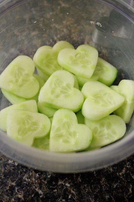 cuoricini di #cetriolo... per l'insalata dell'amore