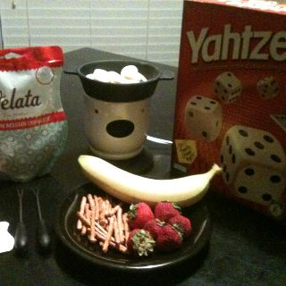 A great addition to your family's game night! A Velata fondue Warmer with yummy chocolates! Get yours today!  Meredith Crawford Velata Consultant www.meredithottcrawford.velata.com