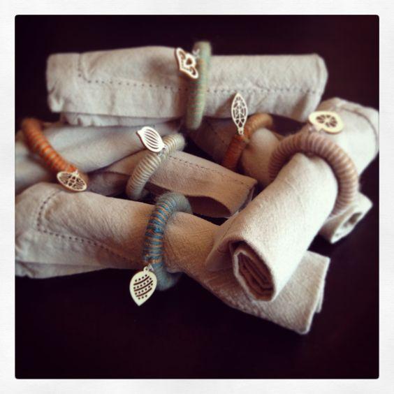 Ronds de serviettes - DIY - Recyclage   de Pouce et demi   Anne-Laure Charlery