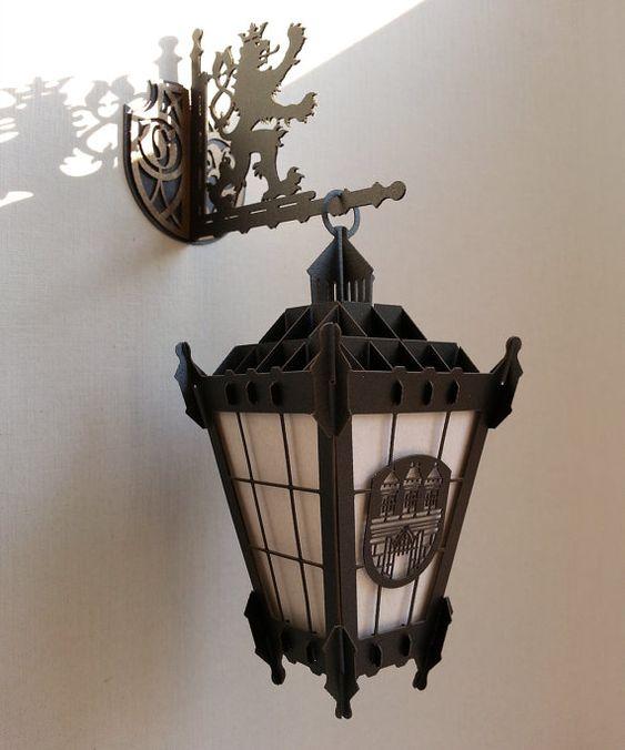 3D Prague Street Lamp or Prague 3D souvenir cards – Wall Street Birthday Cards