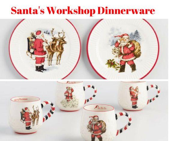 Santa's Workshop Dinnerware Collection