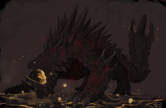 Akantor, the Tyrant of Fire by Halycon450 on DeviantArt