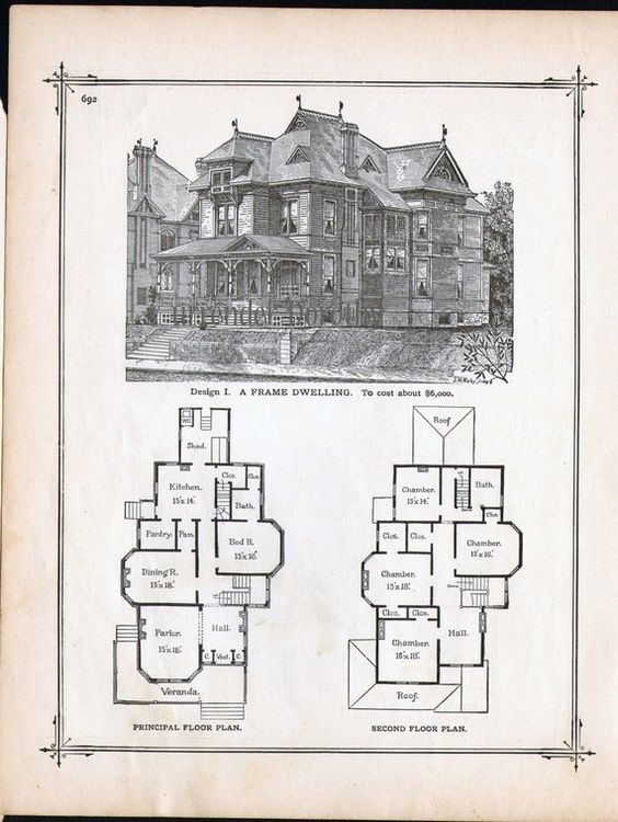 Vintage art deco house plans home design and style for Victorian manor floor plans
