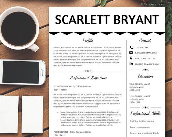Resume Template Word Creative Resume Template Instant Download - Elegant resume teacher resume template word