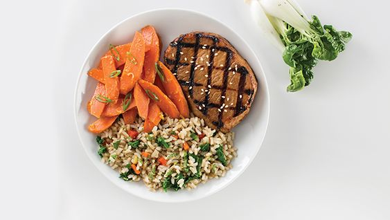 Sesame Pork Cutlet and Thai Fried Rice