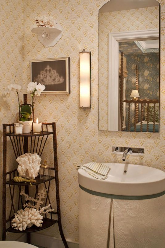 How To Make A Small Bathroom Look Bigger With Tile Guest Bathrooms Small Bathroom Wallpaper Patterned Bathroom Tiles