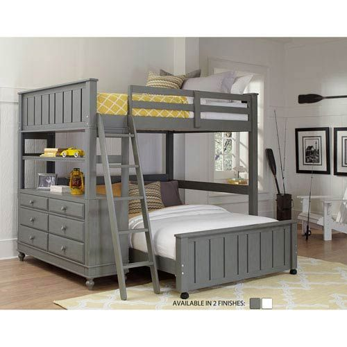 Ne Kids Lake House Stone Full Loft With Full Lower Bed 2045nlfb In 2020 Bunk Beds With Stairs Kids Bedroom Furniture Bedroom Sets
