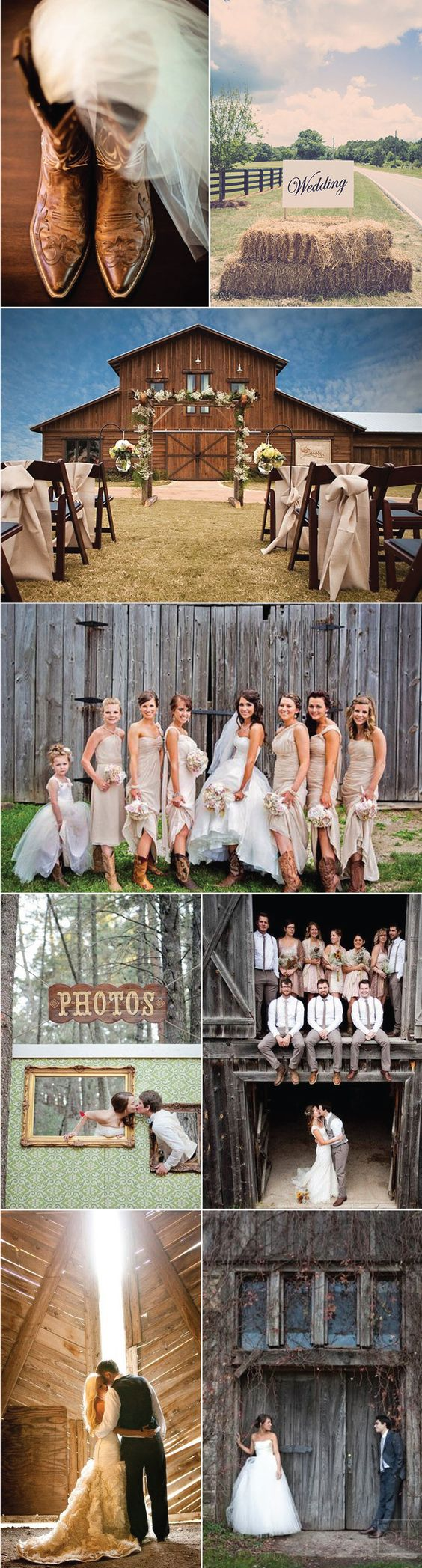 Love all these barn wedding ideas! Super cute. Not to mention the groom and his groomsmen's fashion are all on point. @bowsnties