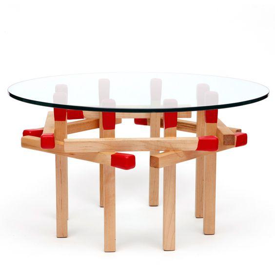 Matchstick Octagonal Table
