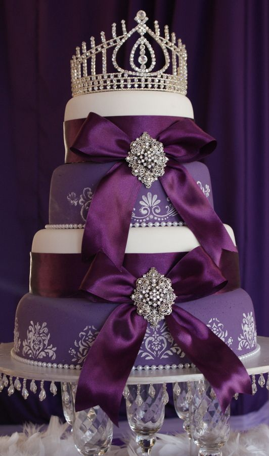 royal blue and purple wedding cakes royal purple 4 tiered cake if this were blue and 19353