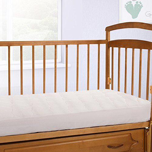 Crib Size Overfilled Pillow Top Crib Mattress Pad, Made in the USA