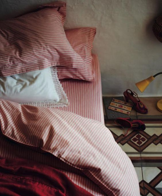 Toast-Spring-Summer-2012-House-and-Home-Collection-Ticking-Stripe-Bedlinen via Remodelista