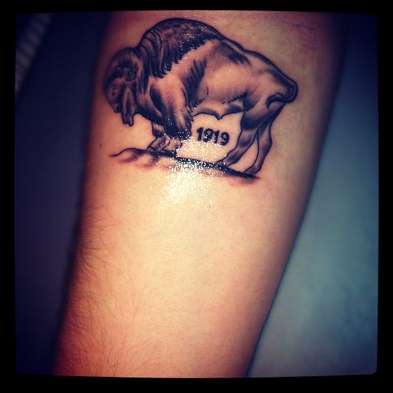Buffalo tattoo but without the number on it tattoos for Tattoos of buffaloes