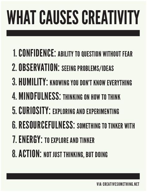 What causes creativity?