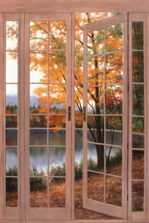 autumn.quenalbertini: Autumn view through the door | Roses and Rust