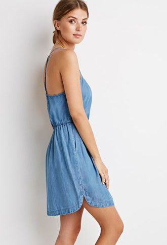 Life in Progress Denim Dress | Forever 21 Contemporary - 2000133158011