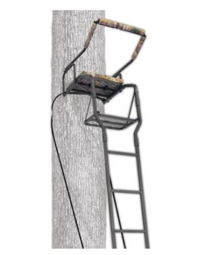 Ladder tree stand ameristep 16 39 one man solid steel seat for Two man deer stand plans