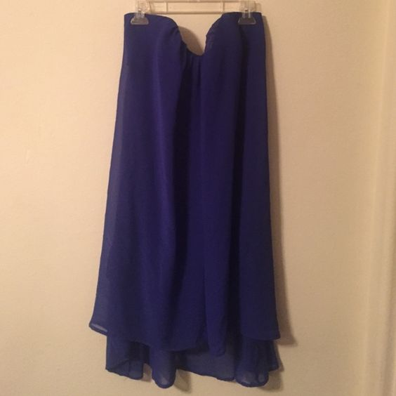 Foreign Exchange blue and white party dresses Foreign exchange flowy blue and white party dress bundle. Good condition. Only worn once each. Very flattering. Strap on back is adjustable and perfect for hiding a strapless bra. Foreign Exchange Dresses Mini