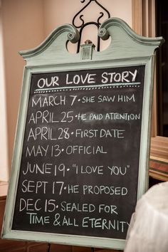 """""""He paid attention"""" I love this! Hopefully when I get married I can remember these dates!"""