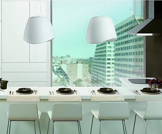 Lámpara de techo de polietileno 3 luces Cool - blanco