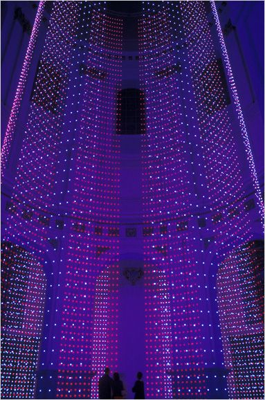 "Computer-controlled LED Installation - ""FADE I"" by Erwin Redl, 2004"