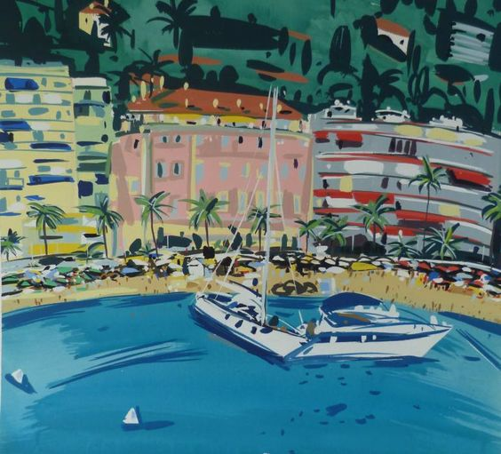 "Saatchi Art Artist Pippa Cunningham; Painting, ""view from Captainerie Menton."" #art"