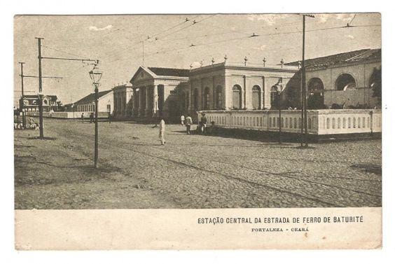 Cartão Postal Tipográfico: Estação Central da Estrada d..