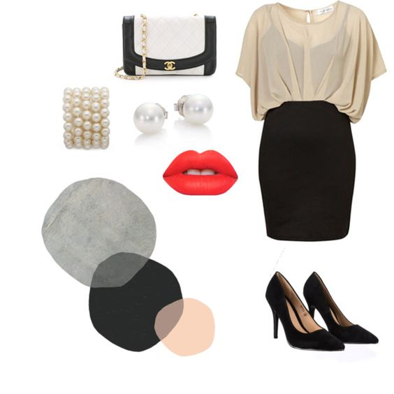 Business Savy by hannah-grace8965 on Polyvore featuring polyvore fashion style Lipsy Mikimoto Lime Crime