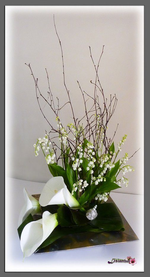 image muguet art floral bouquet cr ations florales de ikebana. Black Bedroom Furniture Sets. Home Design Ideas