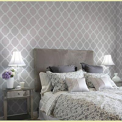 Decoración de Dormitorio con papel pintado al estilo Marroquí : Decorar Casa y Hogar