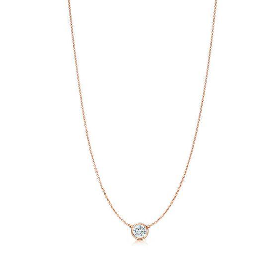 Tiffany & Co. -  Elsa Peretti® Diamonds by the Yard® pendant in 18k rose gold.