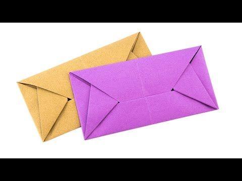 How to Make a Mini Origami Envelope Super Easy - YouTube | 360x480