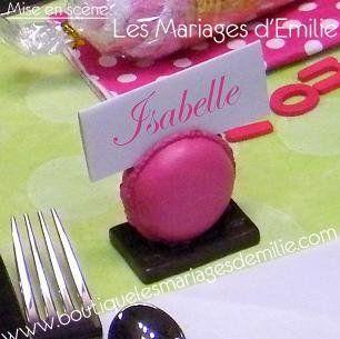 Mariage sur le th me de la gourmandise et des bonbons - Marque place original a faire soi meme ...