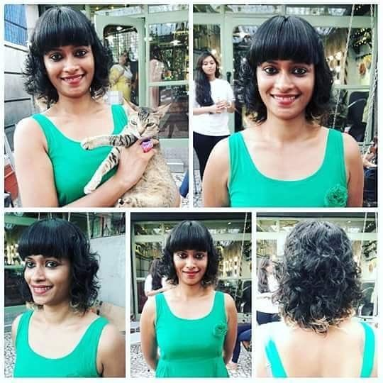 Curly Indian Bob With Bangs Bob Hairstyles Indian Hairstyles Hair Styles