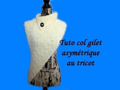 les tutos de fadinou tuto col gilet asymetrique au tricot. Black Bedroom Furniture Sets. Home Design Ideas