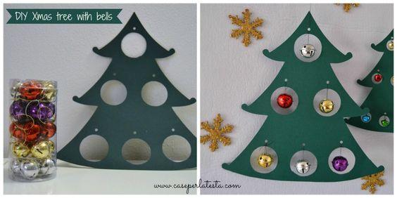Albero di Natale in cartoncino low cost * Cardboard Christmas tree low cost
