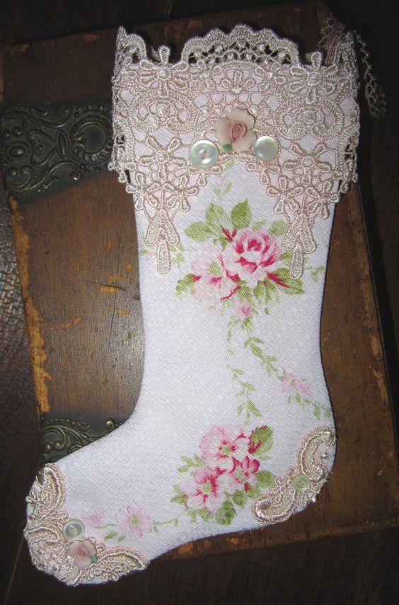 Shabby chic navidad and pink roses on pinterest - Navidad shabby chic ...
