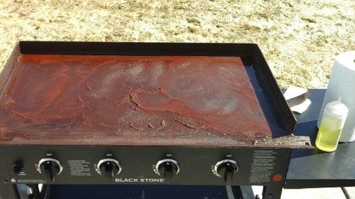 The Blackstone Griddle Tops Are Made Of Steel And All Steel Naturally Wants To Rust In Order For Rust To Griddles Cleaning Bbq Grill Clean Bbq Grill Grates