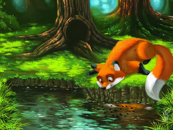 ArtStation - Livro Animais da Fazenda | Animais da floresta , Pepi Silva, #fox #digitalpainting #adobe #photoshop