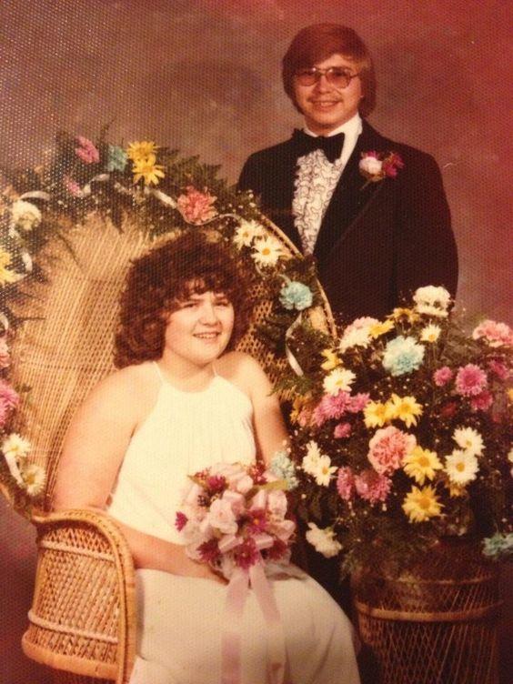 Joe and Cyndi during their high school years