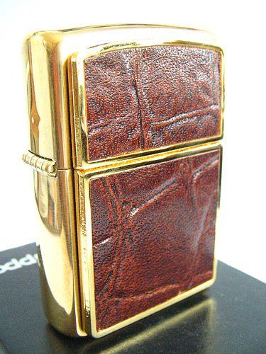 Crocodile Leather Zippo Lighter