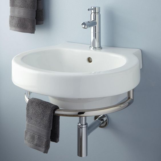 Alia Wall Mount Sink With Chrome Towel Bar Wall Mount Small Sink And Other