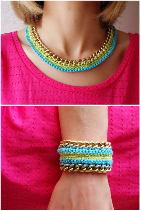 Patrons mod les gratuits des bijoux au crochet bijou - Bijoux au crochet modele gratuit ...