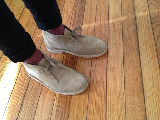Happy December! Thought I'd review these Clarks Original Desert Boots. A history tidbit—the Desert Boot design was brought to the attention of Nathan Clark in the early '40s when he was at war. The suede external and crepe soles were customized from the average military boot so South African soldiers based in Cairo had better fitting footwear for desert conditions. (more history) I got this pair recently. It took me half a week for me to break into them (with excessive ...