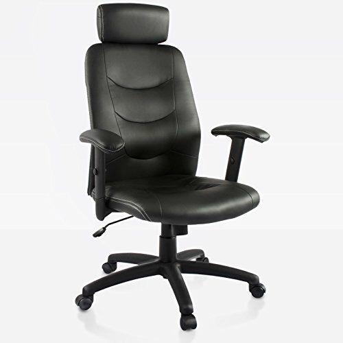Bürodrehstuhl Dionysos von Office Marshal® - der Klassiker Dionysos ist Ihr idealer Bürosessel, wenn Sie neben einem klassischen Design Wert auf gute Funktionalität und Ergonomie legen. Schmiegen Sie sich in die dicke Polsterung der Sitzschale und legen Sie Ihren Kopf in Arbeitspausen oder für das kreative Brainstorming entspannt an der Kopfstütze ab. Richten Sie die Armlehnen genau auf Ihre Größe aus, um Ihre Arme und Schultern zu entlasten und damit Nackenverspannungen vorzubeugen. Mit…