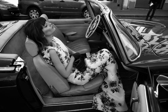 photo of Irina Lazareanu  - car