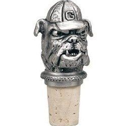 """Georgia """"Bulldogs"""" Pewter Bottle Stopper by Heritage Pewter. $23.99. University of Georgia-""""Bulldogs"""" Bottle Stopper.Made with a synthetic cork,it has a chain with a pewter ring which slips over a bottle's neck."""